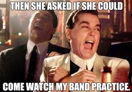Drummer Meme - being in a band drummer mama