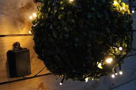outdoor battery light with timer warm white sparkling lights