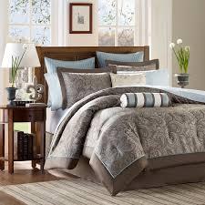 Duvet And Sheet Set Madison Park Whitman Blue Complete Comforter And Cotton Sheet Set