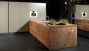 contemporary kitchen stone island lacquered elegant brown