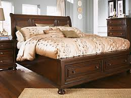 Sleigh Bed With Drawers Porter Queen Sleigh Bed Ashley Furniture Homestore