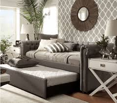 daybed with trundle beds for kids teens upholstered dorm