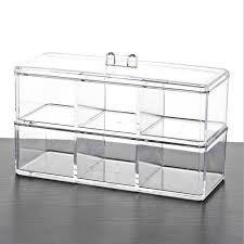Storage Boxes Bathroom Luxury Clear Color Transparent Base Cosmetic Box Jewelry