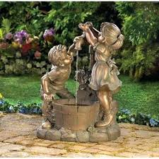 outdoor water features with lights solar powered backyard fountains small solar powered water feature