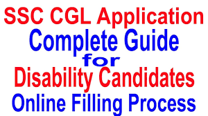 how to fill ssc cgl application form by disability candidates 2017