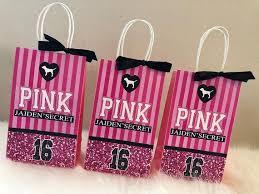pink favor bags s secret pink inspired favor bags pink favor bag pink