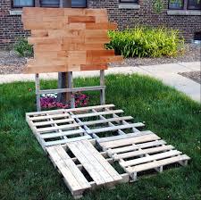 Platform Bed Pallet Diy Pallet Bed Frame With Nightstands Pallet Furniture Pallets