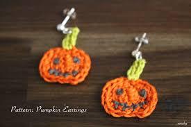 halloween earrings crochet pattern pumpkin earrings applique halloween pattern