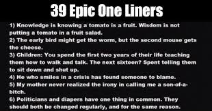39 epic one liners so they don t need another one weknowmemes