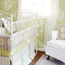 Green And White Crib Bedding Pink And Green Crib Bedding Transitional Nursery New