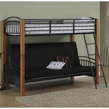 Bedroom Futon Twin Bunk Bed Loft Bed With Futon - Metal bunk bed futon combo