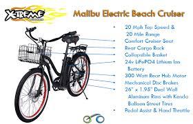 Most Comfortable Beach Cruiser Seat X Treme Malibu 24v Beach Cruiser Electric Bicycle