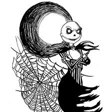 free nightmare before christmas coloring books printable