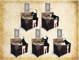 Second Life Marketplace Noctis MESH Darkwood Bathroom Cabinet - Dark wood bathroom cabinets