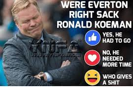 Who Gives A Shit Meme - were everton right sack ronald koeman yes he had to go no he more