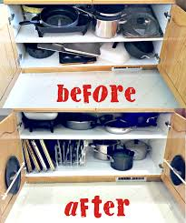 Organizing Pots And Pans In Kitchen Cabinets Organizing The Dreaded Pots And Pans Cabinet Organizing