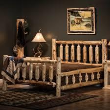 cedar log beds cedar wood log beds