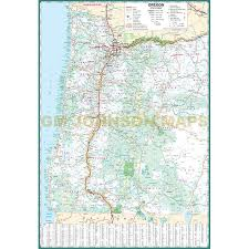oregon large print oregon state map gm johnson maps