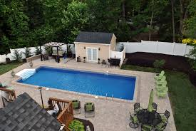 Beautiful Pool Backyards decor small inground pools for small yards with deck and tree for