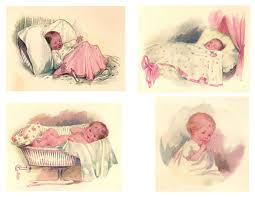 vintage baby clipart 58