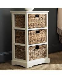 white end table with storage memorial day shopping deals on safavieh halle wicker basket storage