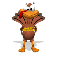 happy thanksgiving turkey animated gif 9094 animate it