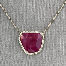 diamond necklace ruby images Natural slice ruby and diamond necklace ruby necklaces fine jpg