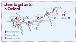 Oxford England Map by Stops X90 Oxford Bus Company