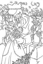 belle beast rose garden colouring belle
