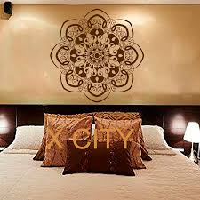 wall decal mandala sticker yoga lotus flower indian art bedroom