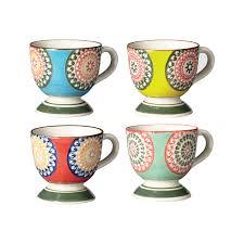Unusual Mugs by Florya Espresso Mugs Set Of 4 Oka Direct