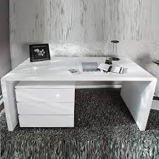 Design Schreibtisch Design Schreibtisch Compact Hochglanz Weiss Bürotisch 160cm Tisch