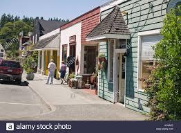 main street shops langley whidbey island washington stock photo