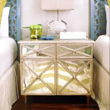Silver Leaf Nightstand Worlds Away Humphrey Antique Mirror Cabinet With Silver Leaf