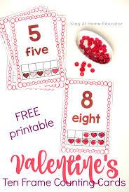 free valentines cards free s day ten frame math counting cards