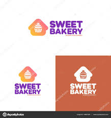 home and design logo sweet bakery logo set consisting of home and cupcake u2014 stock