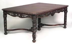 Gothic Dining Room Furniture English Gothic Revival Carved Mahogany Extending Dining Table For