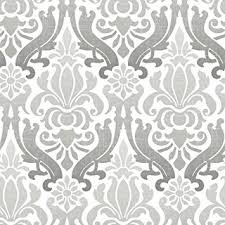 peel and stick wallpaper wpxnu1827 nuwallpaper grey nouveau damask peel and stick wallpaper