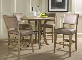 hillsdale charleston round counter height dining set with parson