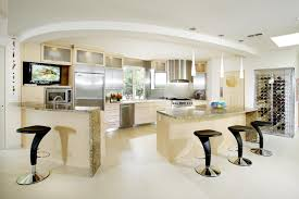 hanging mini pendant lights over kitchen island white cabinets red