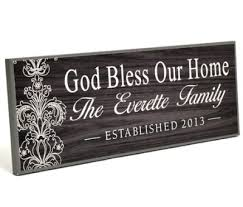 god bless our home personalized family plaque christianbook