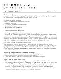 sample resume career summary collection of solutions resident advisor sample resume with job collection of solutions resident advisor sample resume with job summary
