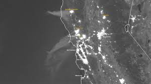 Wildfire From Space by Noaa Satellite Image Shows Northern California Fires From Space