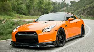 nissan orange nissan gtr r35 orange road hd wallpaper