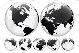 World Map Globe by Globe With World Map Transparent Illustrations Creative Market