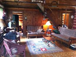Beautiful Log Home Interiors by Historic Log Cabin On Beautiful Private La Vrbo