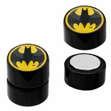 batman earrings earrings rings magnetic acrylic logo faux