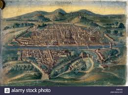 Italian Map Map Of Florence Anonymous 15th Century Italian Map Stock Photo