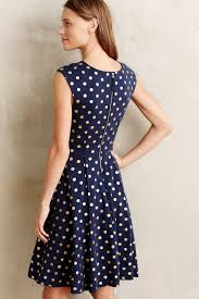 maeve clothing maeve ophira dot dress in blue lyst