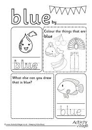 color blue worksheet for preschoolers best 25 preschool learning
